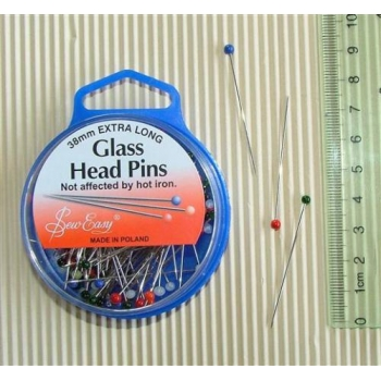 Glasshead Pins 38mm